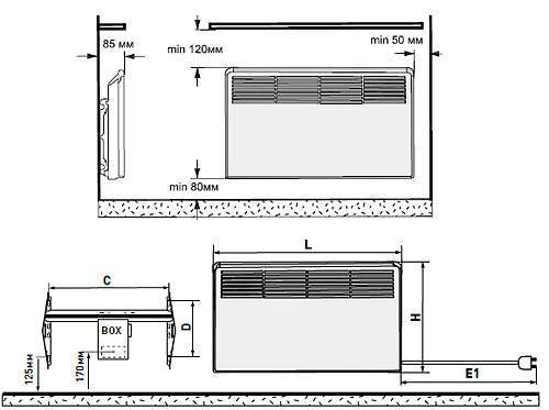 Подключение конвектора и его установка для отопления: монтаж, экран и схема
