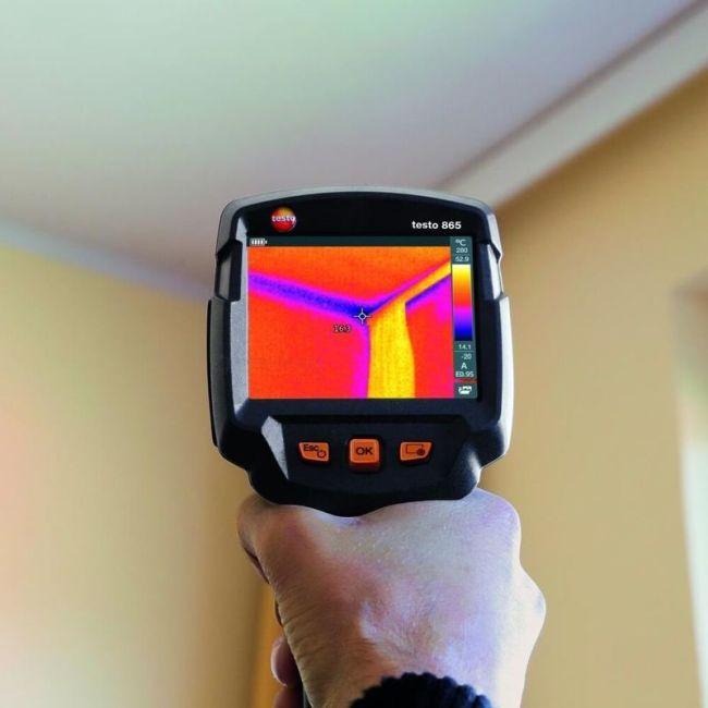 Тепловизионное обследование зданий и жилых домов с помощью тепловизора