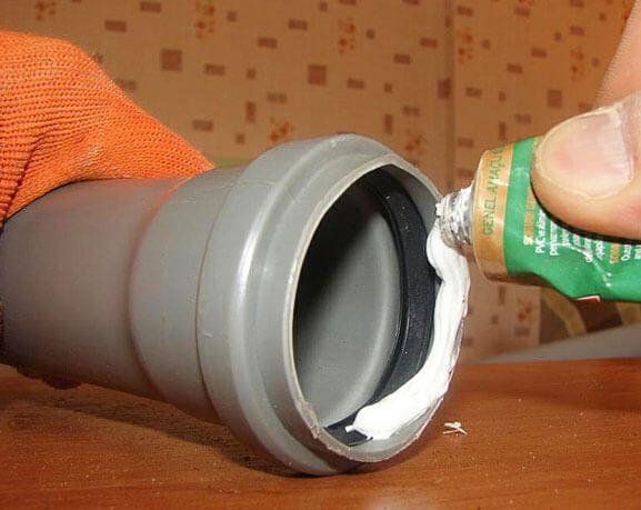 Герметизация канализационных труб пвх, выбираем клей герметик