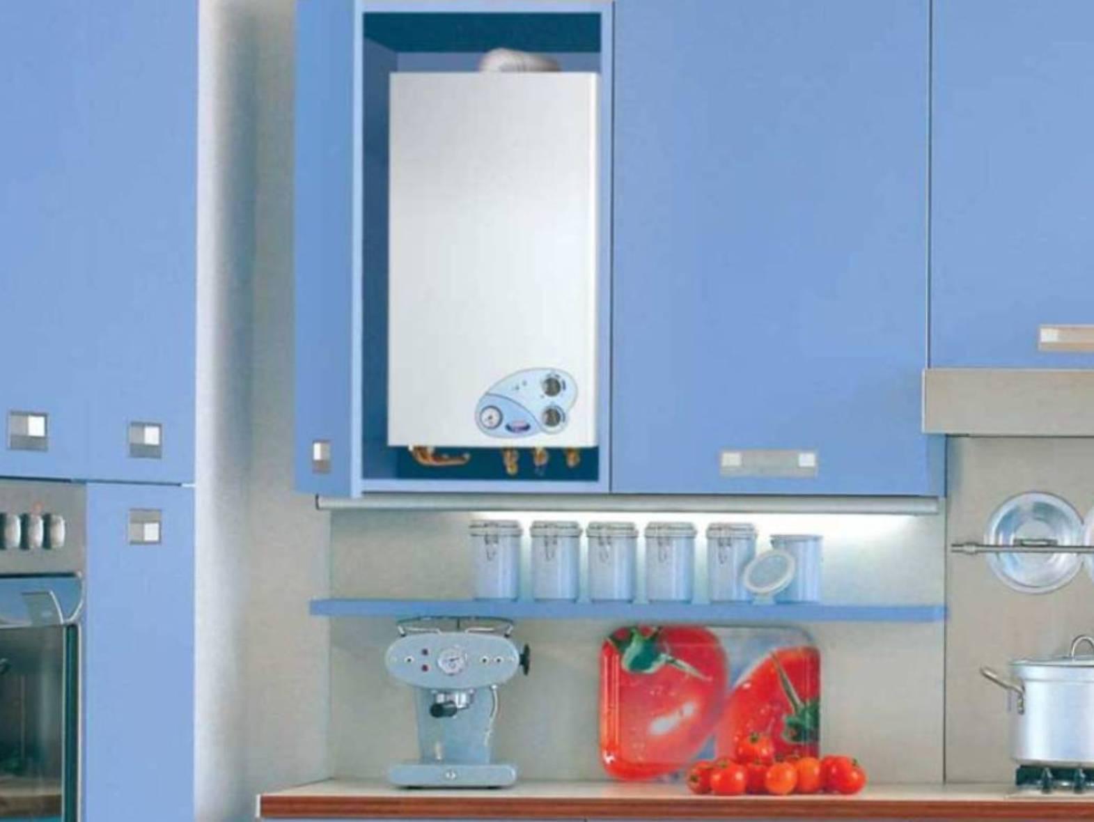 Как спрятать газовый котел на кухне, варианты, фото » интер-ер.ру