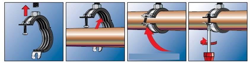 Крепление канализационных труб к стене: способы, хомуты и монтаж