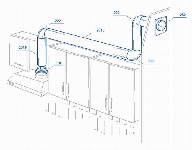 Пластиковые вентиляционные трубы для вытяжки на кухне — типы