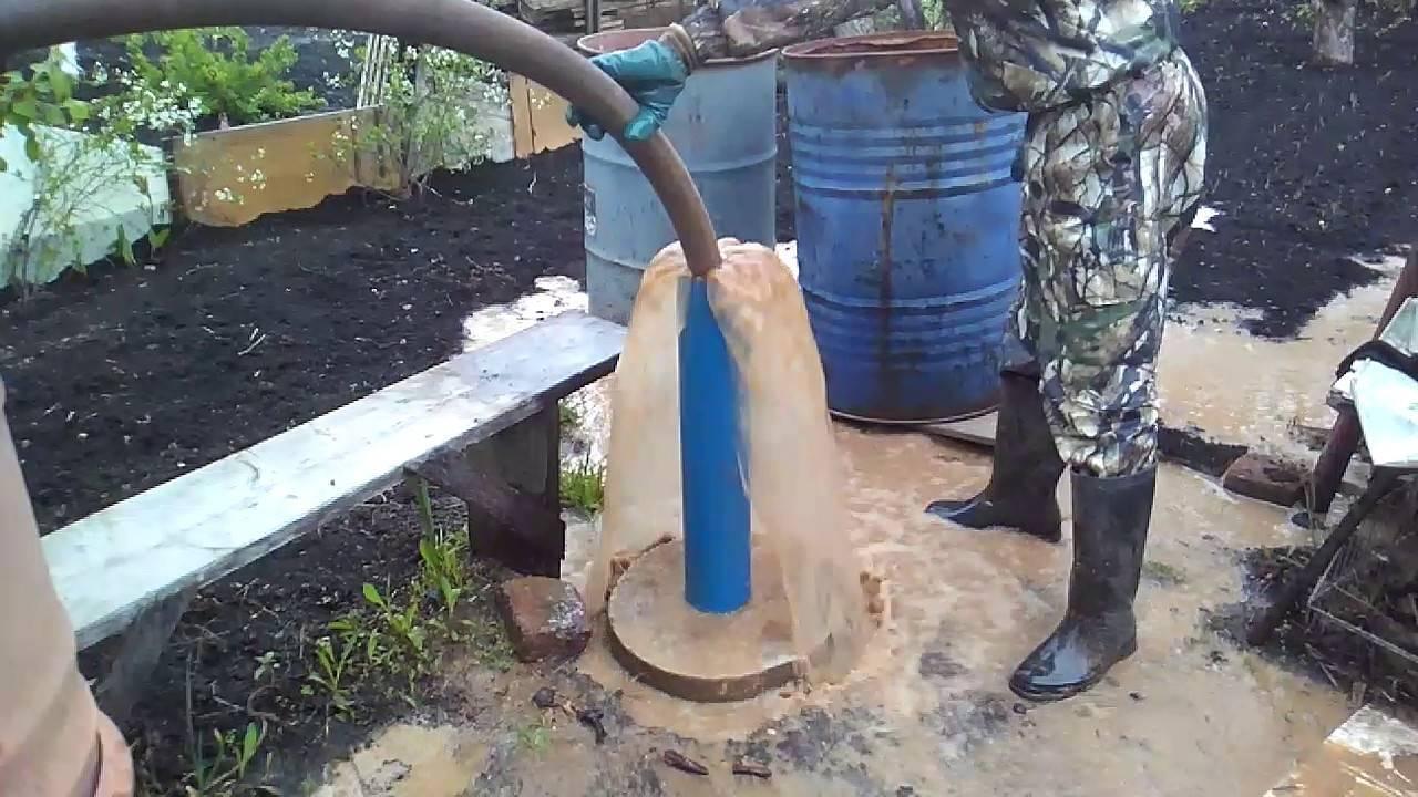 Как почистить скважину от ила, песка и грязи: основные способы