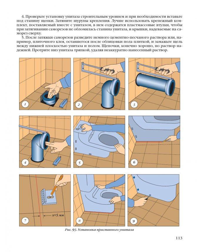 Подключение унитаза с прямым, косым или горизонтальным выпуском к канализации своими руками