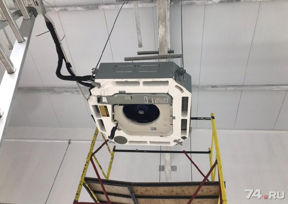 Установка кассетной сплит системы кондиционера