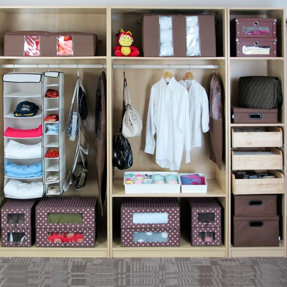 Удобная организация вещей в шкафу для рачительных хозяек