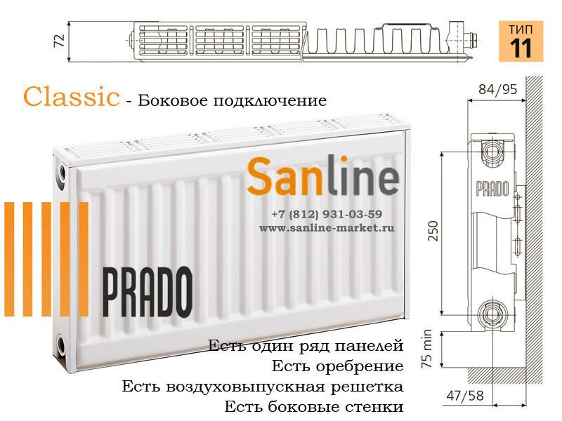 Стальные панельные радиаторы «prado»