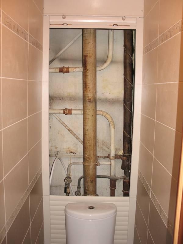 Как и чем закрыть трубы в туалете – маскируем канализационные трубы