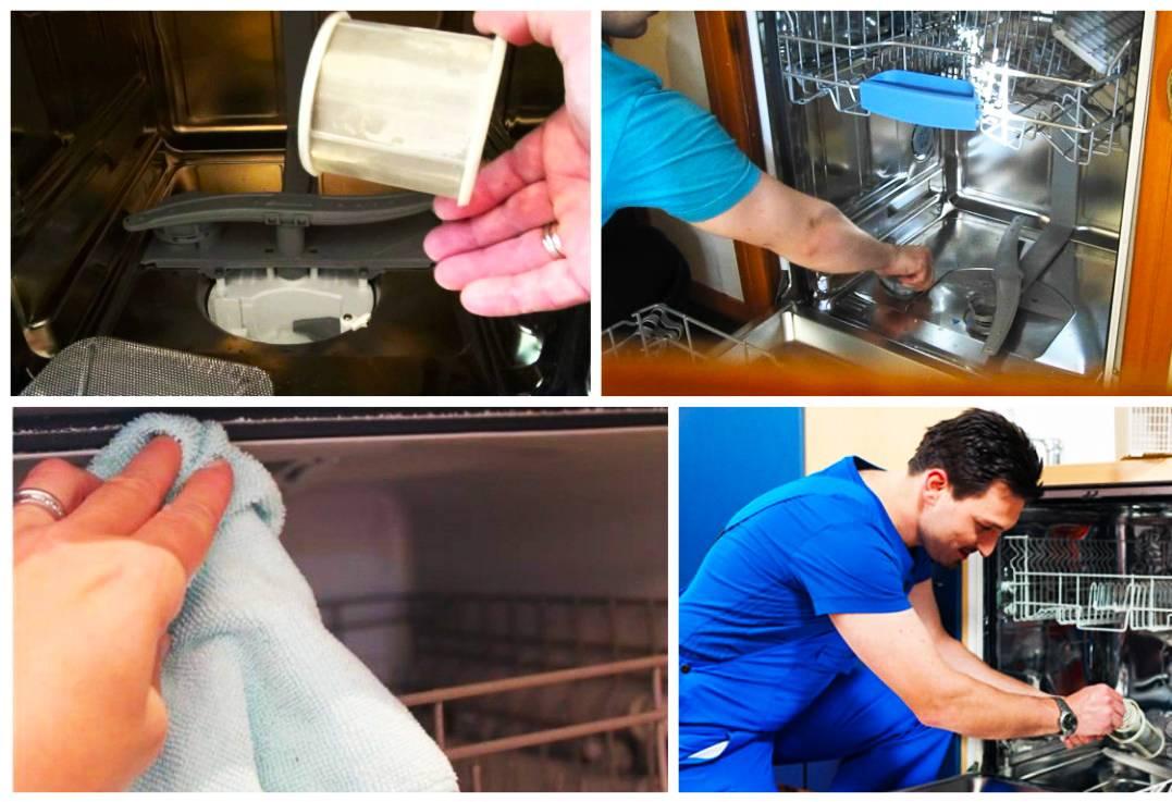 Причины белого налета на посуде после мытья в посудомоечной машине