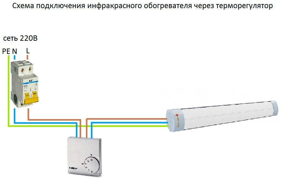 Как подключить терморегулятор к инфракрасному обогревателю: схема подключения, напольные и настенные агрегаты