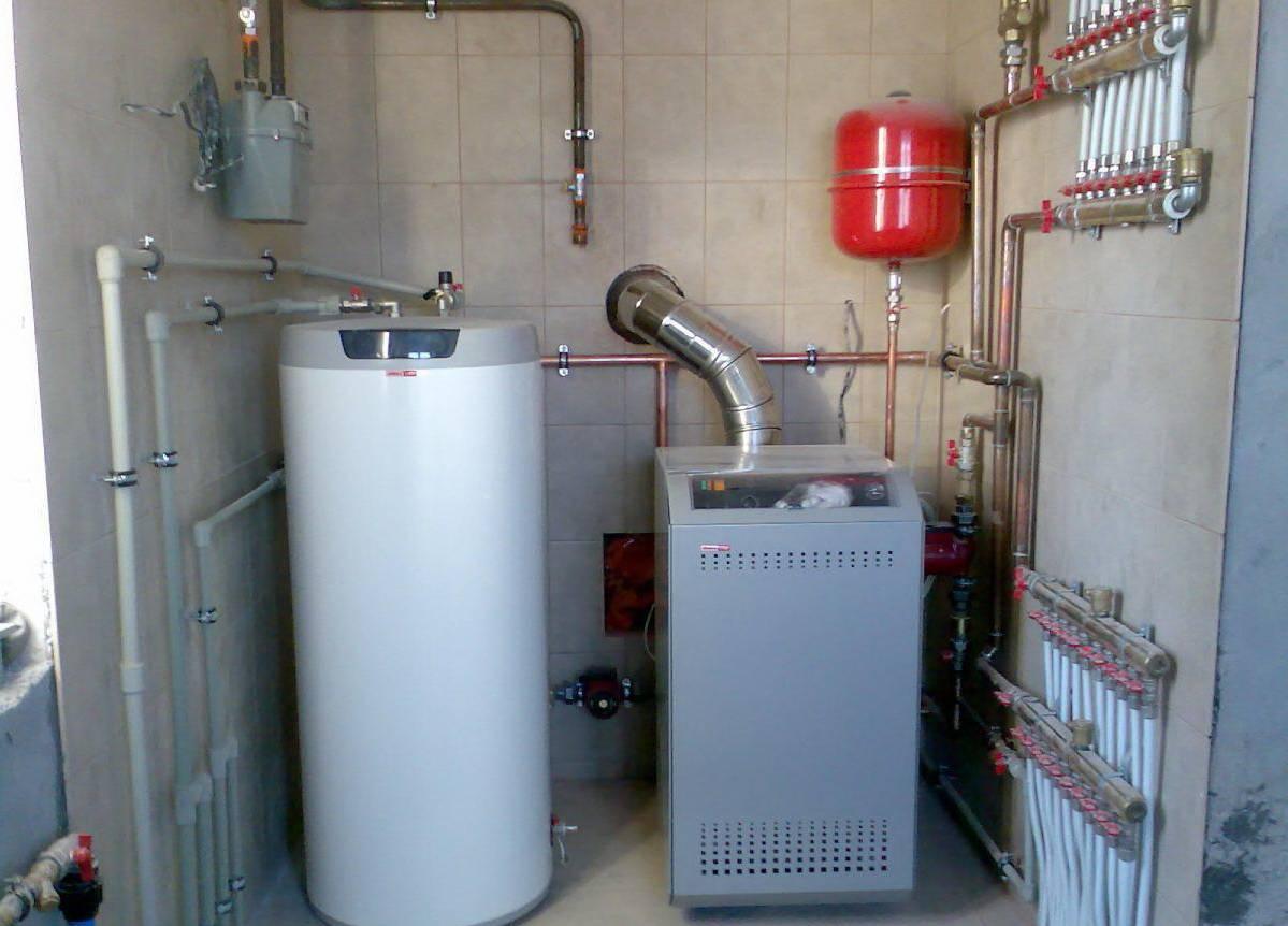Напольные двухконтурные газовые котлы для отопления частного дома