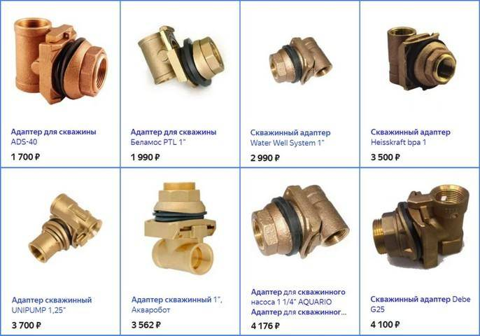 Адаптер для скважины - конструкция, материалы, монтаж