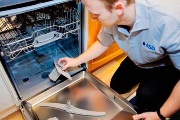 Посудомоечная машина не сливает воду: причины, устранение