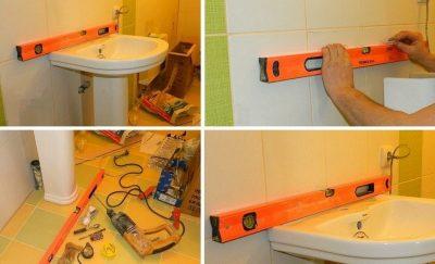 """Крепление раковины к стене в ванной комнате + видео """"как правильно крепить раковину"""""""