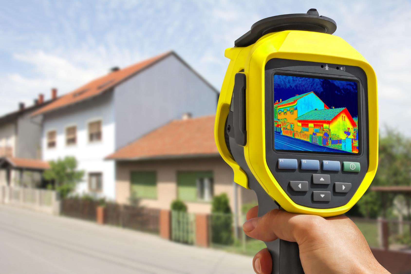 Обследование и проверка дома тепловизором при покупке или контроле