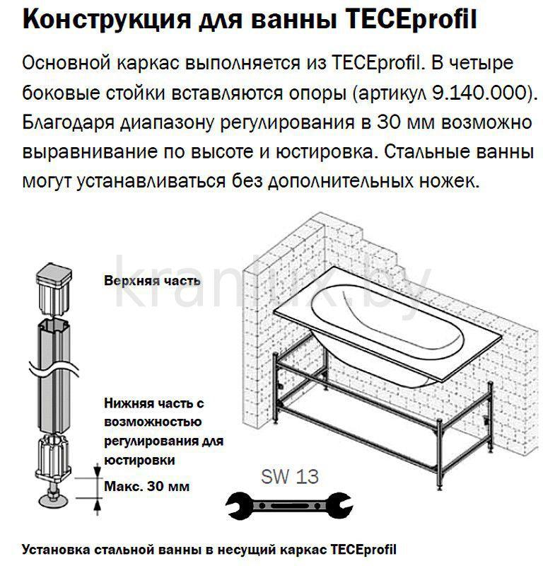 Установка акриловой ванны - инструкция по креплению и видео