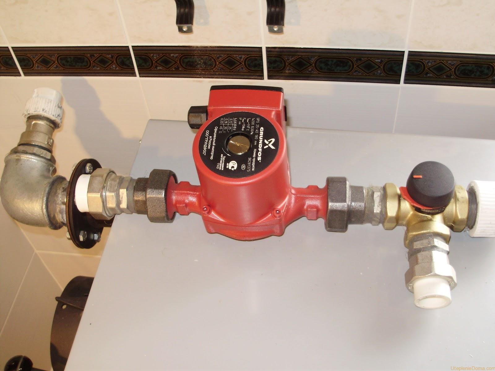Установка циркуляционного насоса в систему отопления частного дома, как правильно произвести монтаж