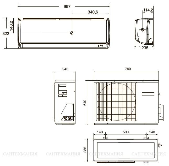 Внутренний блок кондиционера: сплит-системы, размеры, устройство
