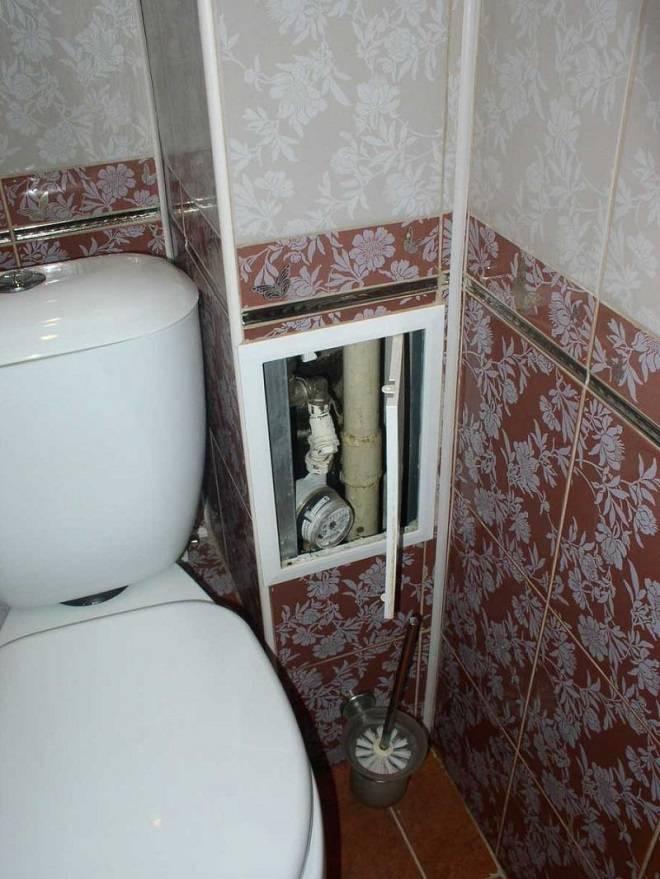 Короб для труб в туалете: оптимальные способы маскировки коммуникаций - точка j