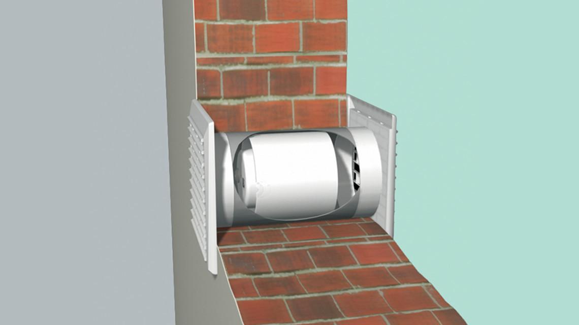 Вентиляционный приточный клапан в стену (стеновой)