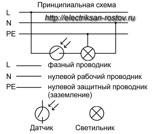 Подключение датчика движения для освещения — инструкция