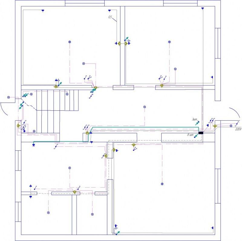 Разводка электропроводки в частном доме
