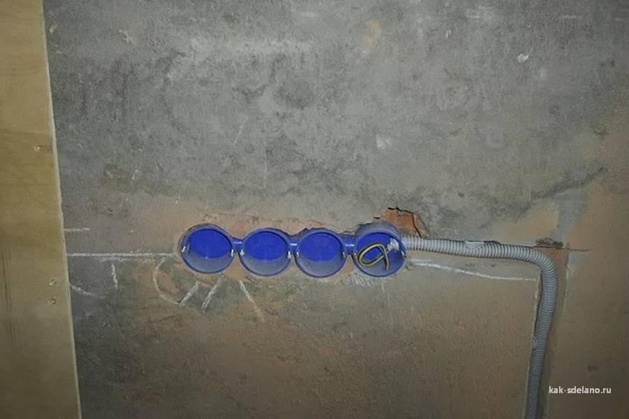 Подрозетник по бетону, подробная инструкция по монтажу