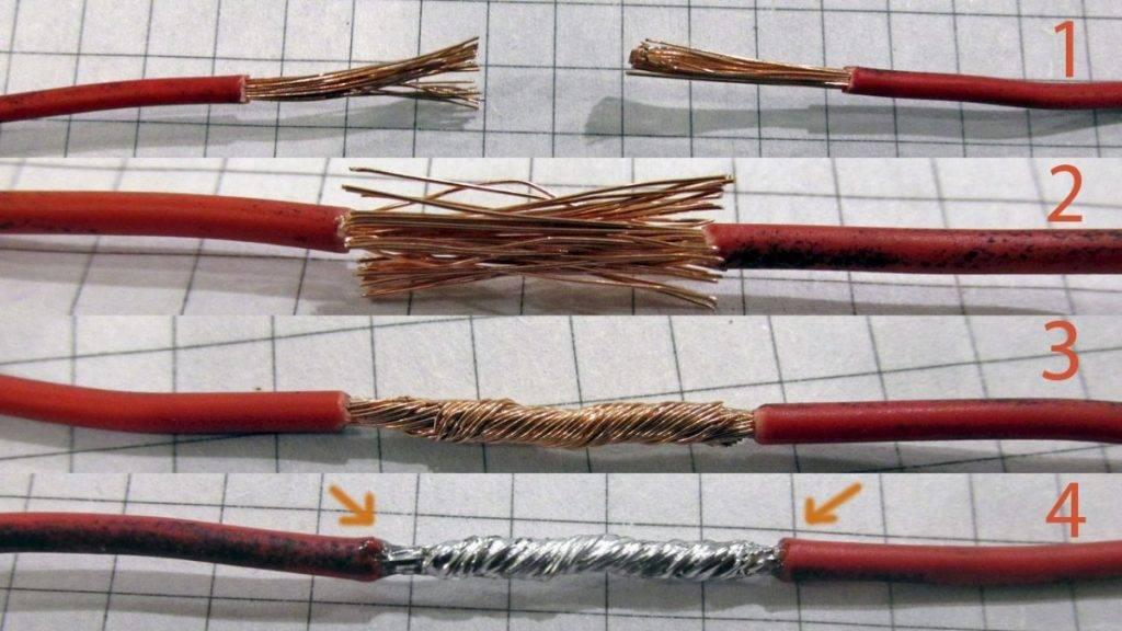 Как правильно соединить провода между собой. способы соединения электрических проводов