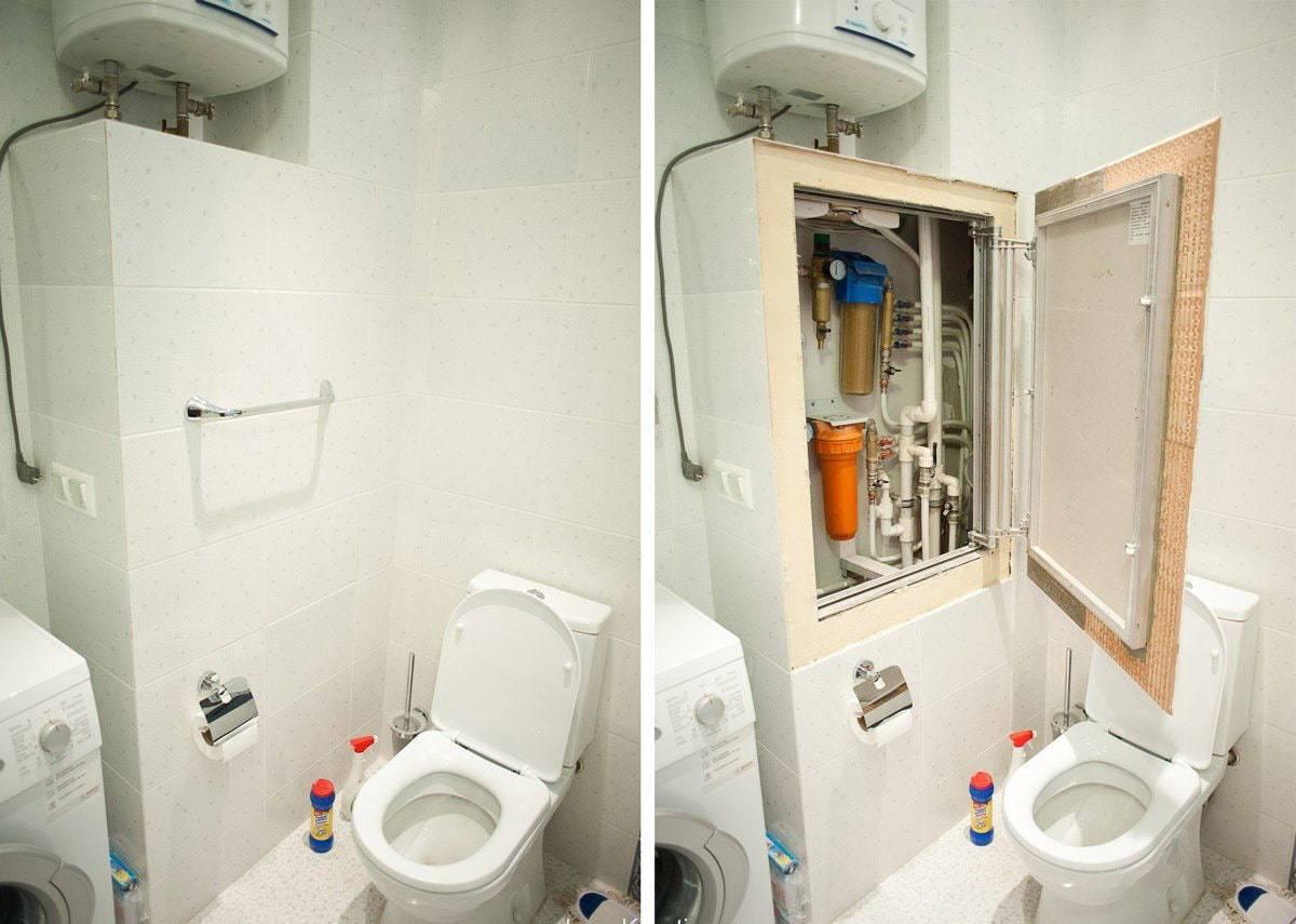 Короб для труб в туалете – виды, порядок монтажа и цены