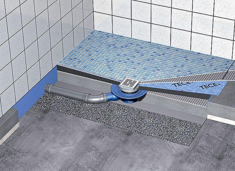 Идеальные решения для санузла: трап для душа в полу под плитку