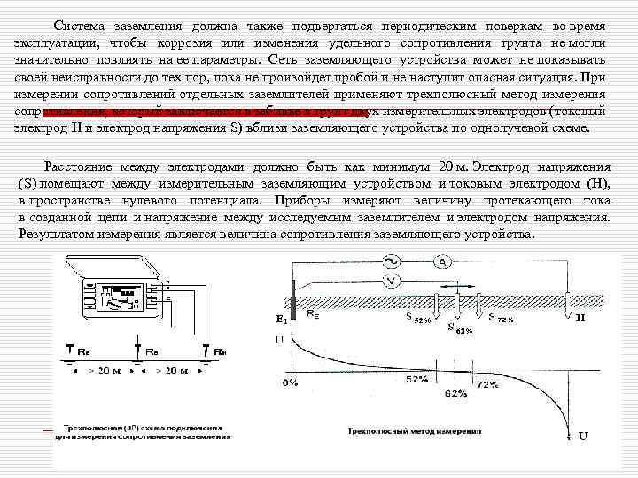 Измерение сопротивления заземления токовыми клещами, мегаомметром