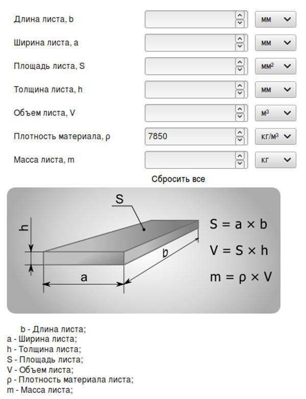 Как рассчитать вес металла - формулы и рекомендации |