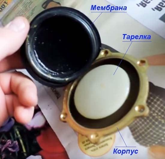 Замена мембраны в газовой колонке - последовательность действий с фото
