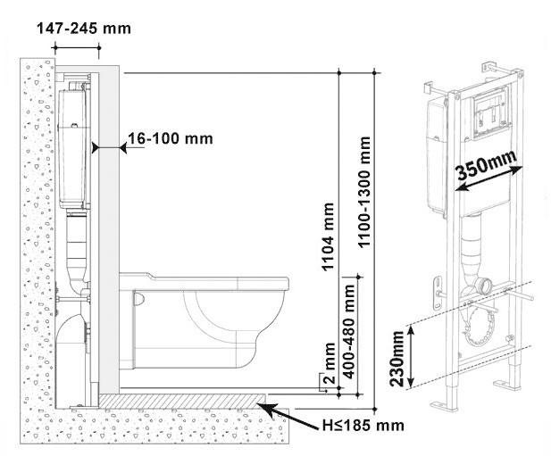 Монтаж подвесного унитаза: характеристика, устройство, варианты и инструкция  по установке, облицовка стены