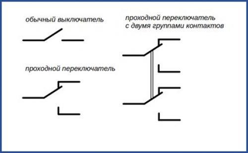 Схемы и особенности подключения проходных выключателей