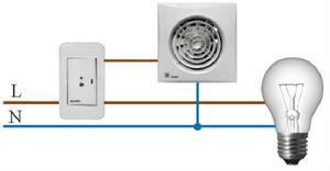 Как правильно подключить вентилятор в ванной комнате к выключателю