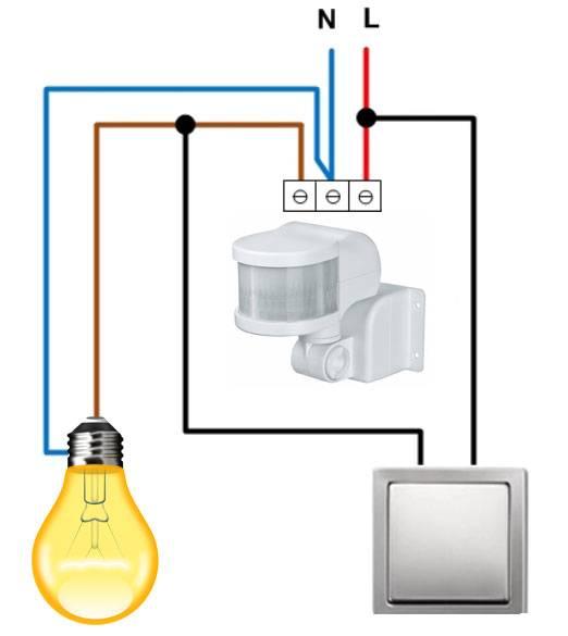 Схема подключения и монтаж датчика освещенности