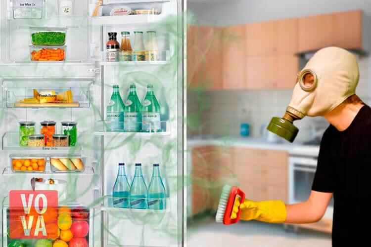 Чем помыть холодильник внутри, чтобы уничтожить запах