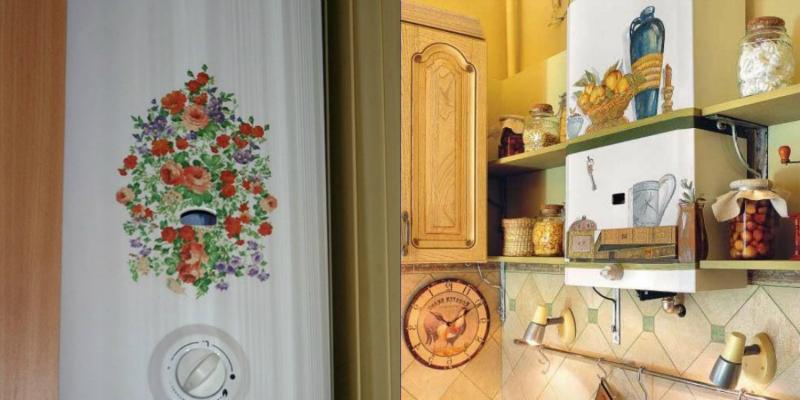 Как спрятать газовую трубу на кухне: идеи и способы маскировки, установка короба