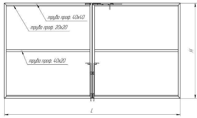 Откатные ворота из профлиста: как сделать расчёт профнастила, чертежи и видео сборки своими руками