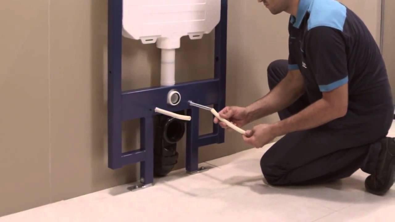 Как установить инсталляцию для унитаза: монтаж своими руками (6 видео)