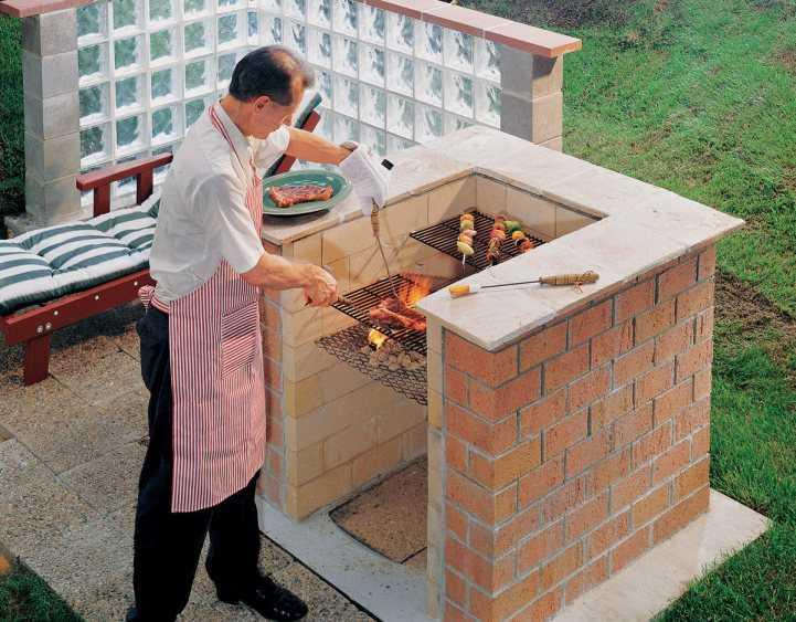 Мангал барбекю из кирпича своими руками. фото инструкция