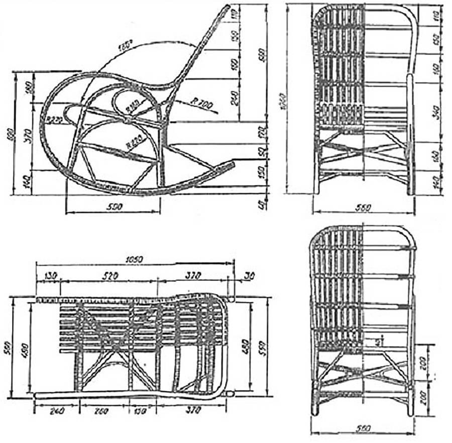 Кресло-качалка своими руками из дерева: чертеж с размерами и фото, подробное описание выбора материала, инструкция, как сделать деревянное изделие