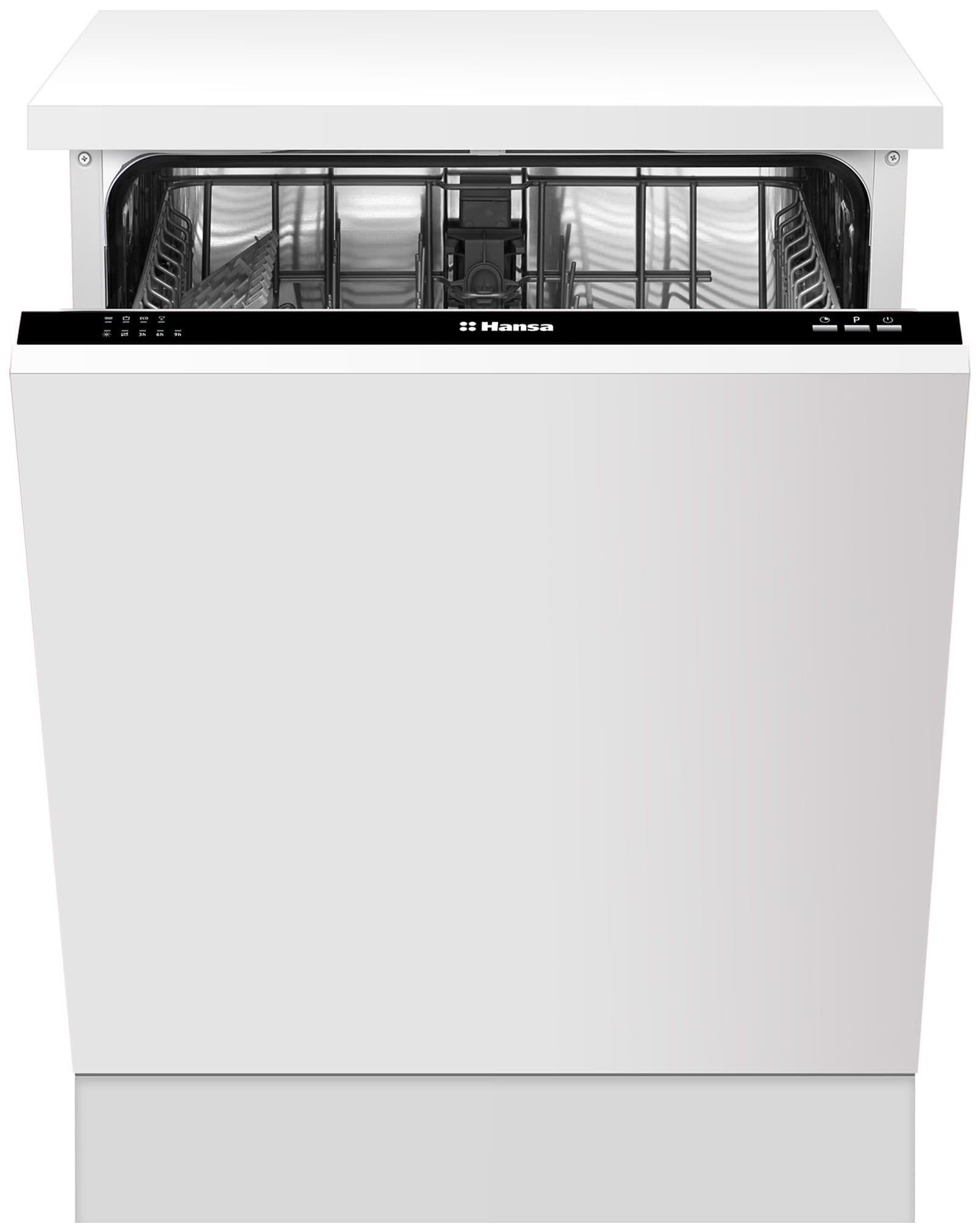 Полновстраиваемая узкая посудомоечная машина hansa zim476h с таймером отсрочки запуска
