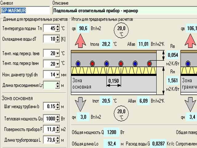Расчет теплого водяного пола – как сделать комнату теплой без батарей?