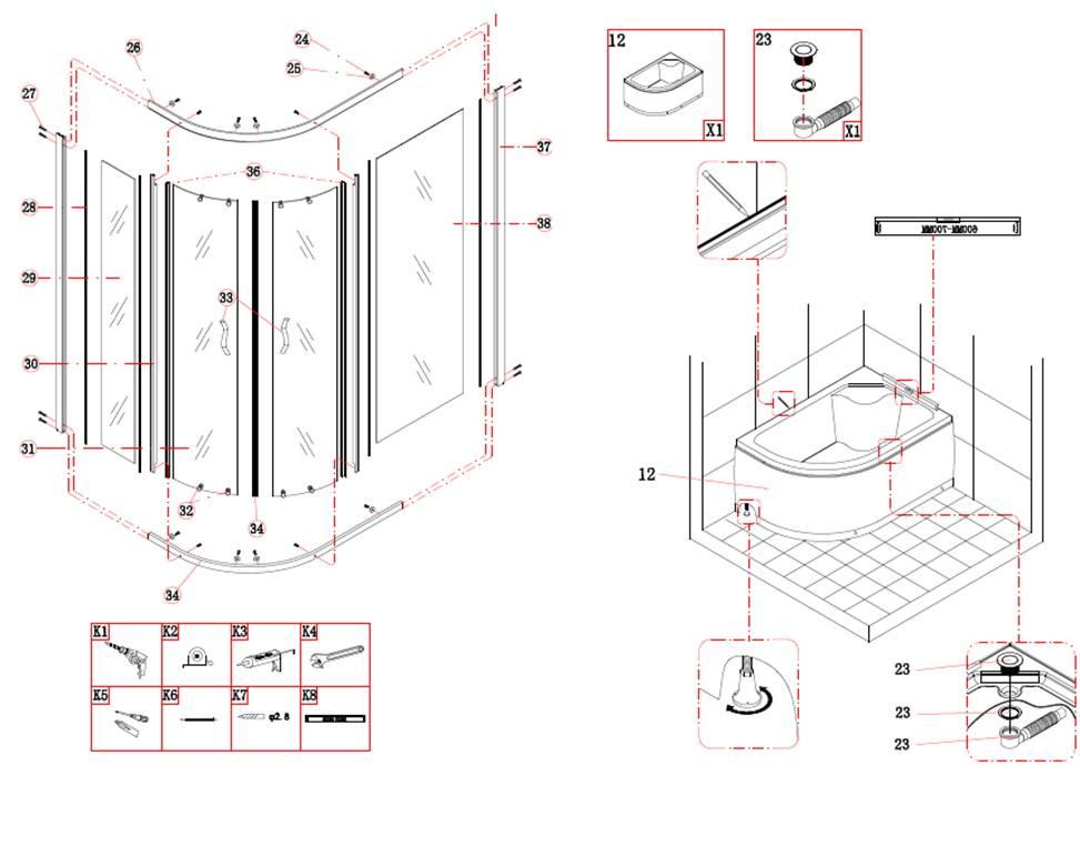 Как подключить душевую кабину к водопроводу: подготовка к установке, подключению