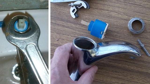 Как разобрать смеситель однорычажный