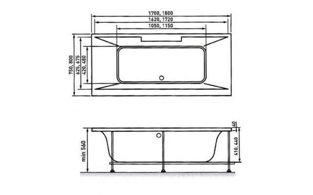 Большие, ассиметричные и угловые акриловые ванны: сравнение моделей