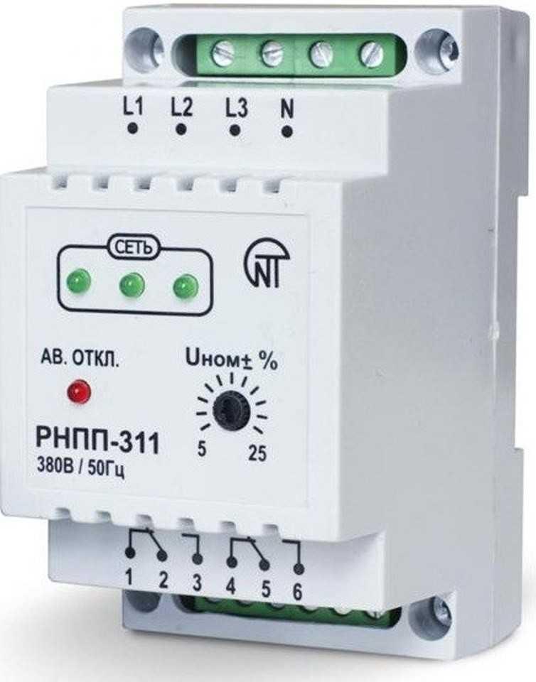 Схема подключения реле контроля фаз - всё о электрике