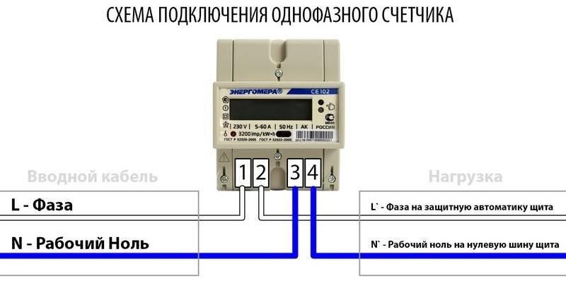 Подключение однофазного счетчика - всё о электрике